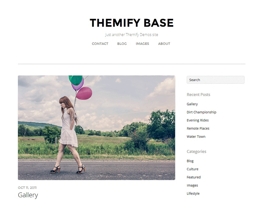 Themify Base Child WordPress website template