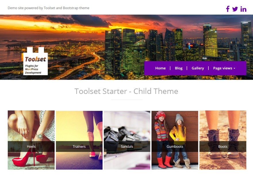 Toolset Starter Child WordPress ecommerce template