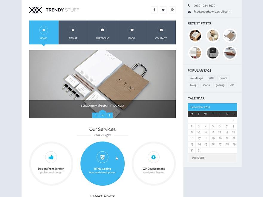 TrendyStuff template WordPress