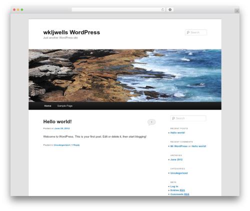 Twenty Eleven WordPress theme - wkljwells.com