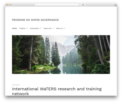 Twenty Sixteen best free WordPress theme - watergovernance.ca