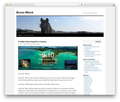 Twenty Ten free WordPress theme - winck.org