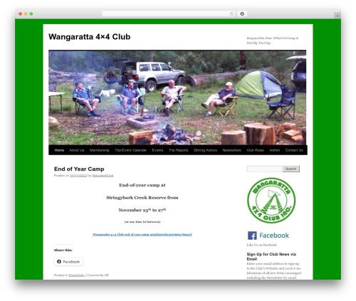 Twenty Ten free WordPress theme - wangaratta4x4club.org.au