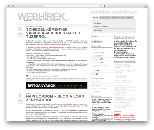 Typograph WordPress theme - webhirek.info