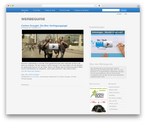 WordPress Default DE-Edition theme WordPress - werbegui.de