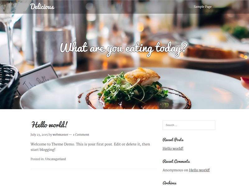 WordPress theme Delicious