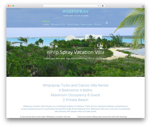 WordPress theme Eden - whipspray.avacationdestination.com