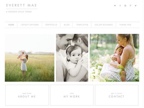 WordPress theme Everett Mae Child Theme