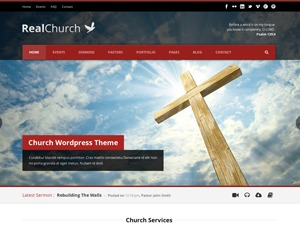 WordPress theme Real Church