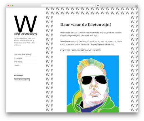 WordPress theme Twenty Fifteen - westwednesdays.com