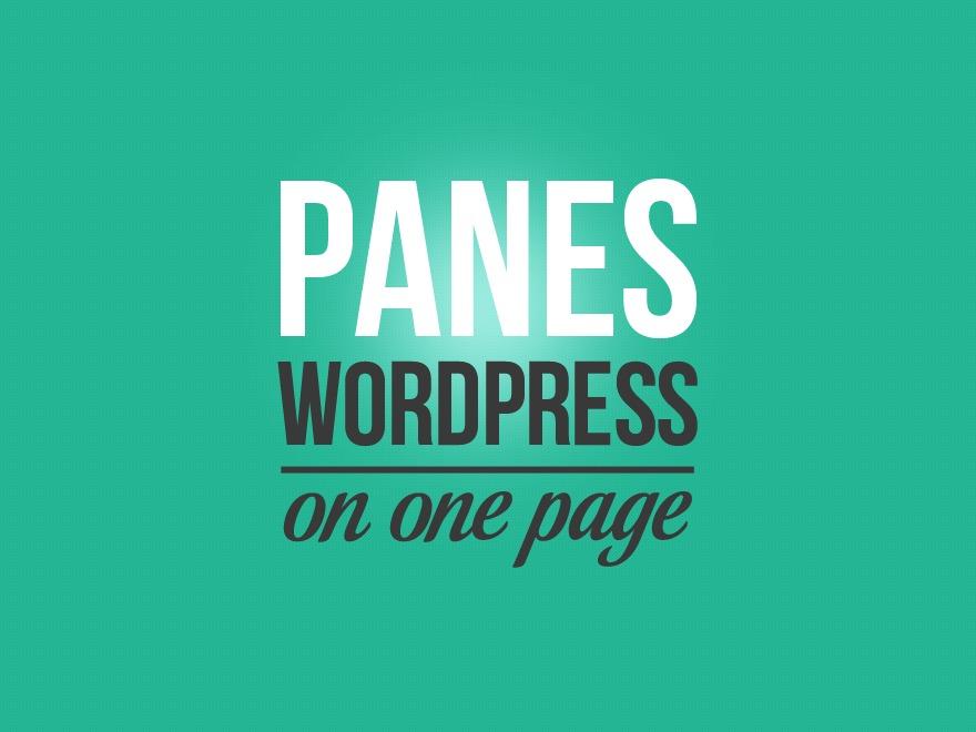WordPress website template Panes
