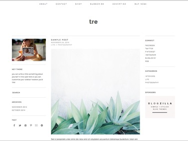 WP theme tre