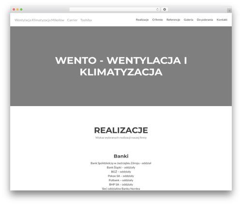 WP theme Zerif Lite - wento.pl