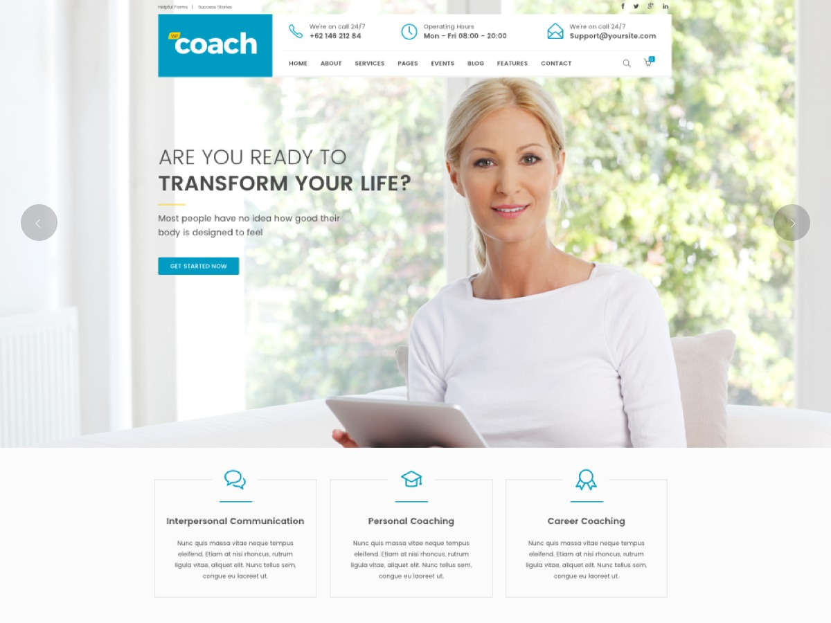 WPCoach company WordPress theme