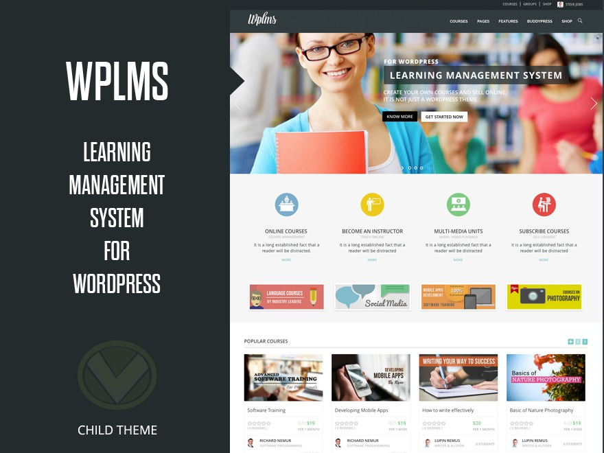 WPLMS Modern top WordPress theme