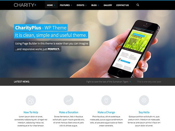 Best WordPress template charity-child