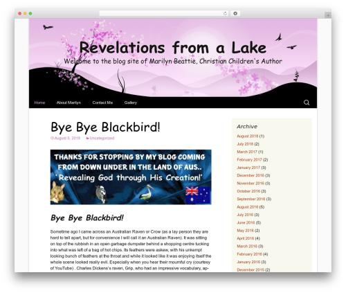 Cherry Blossom top WordPress theme - revelationsfromalake.com