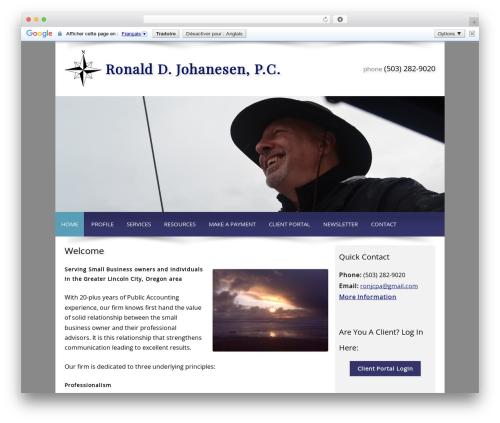 Customized WordPress template - ronjcpa.com