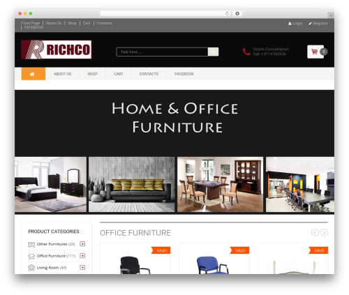 DashStore WordPress shopping theme - richcofurniture.com