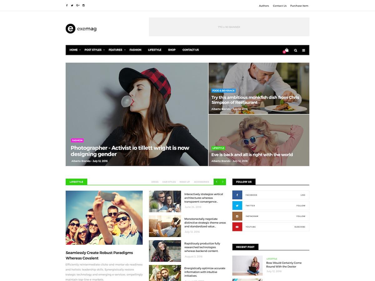 Exemag WordPress news theme