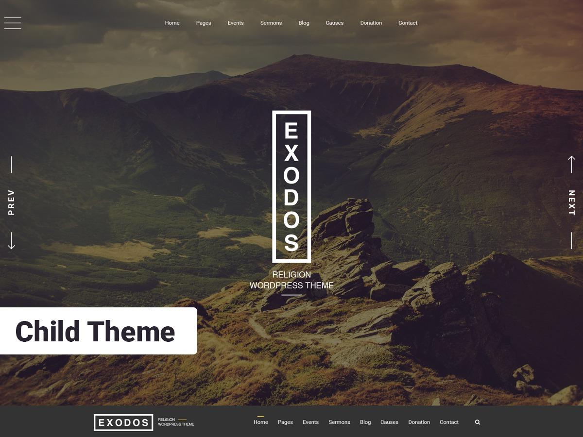 ExodosWP Child WordPress theme