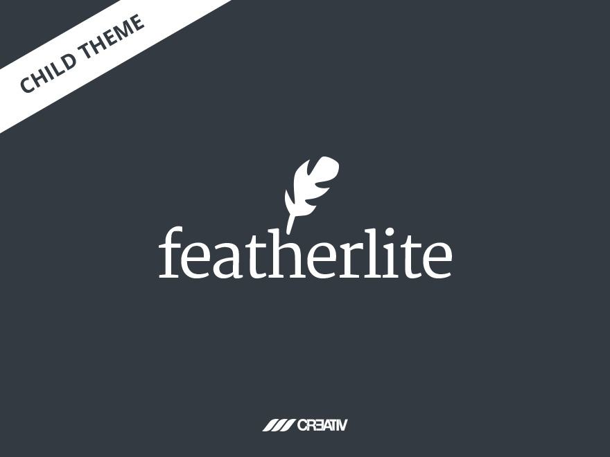 Featherlite Child Theme WordPress website template