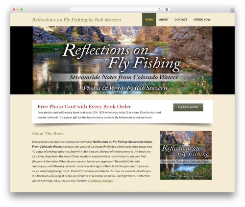 Fresh photography WordPress theme - reflectionsonflyfishing.com