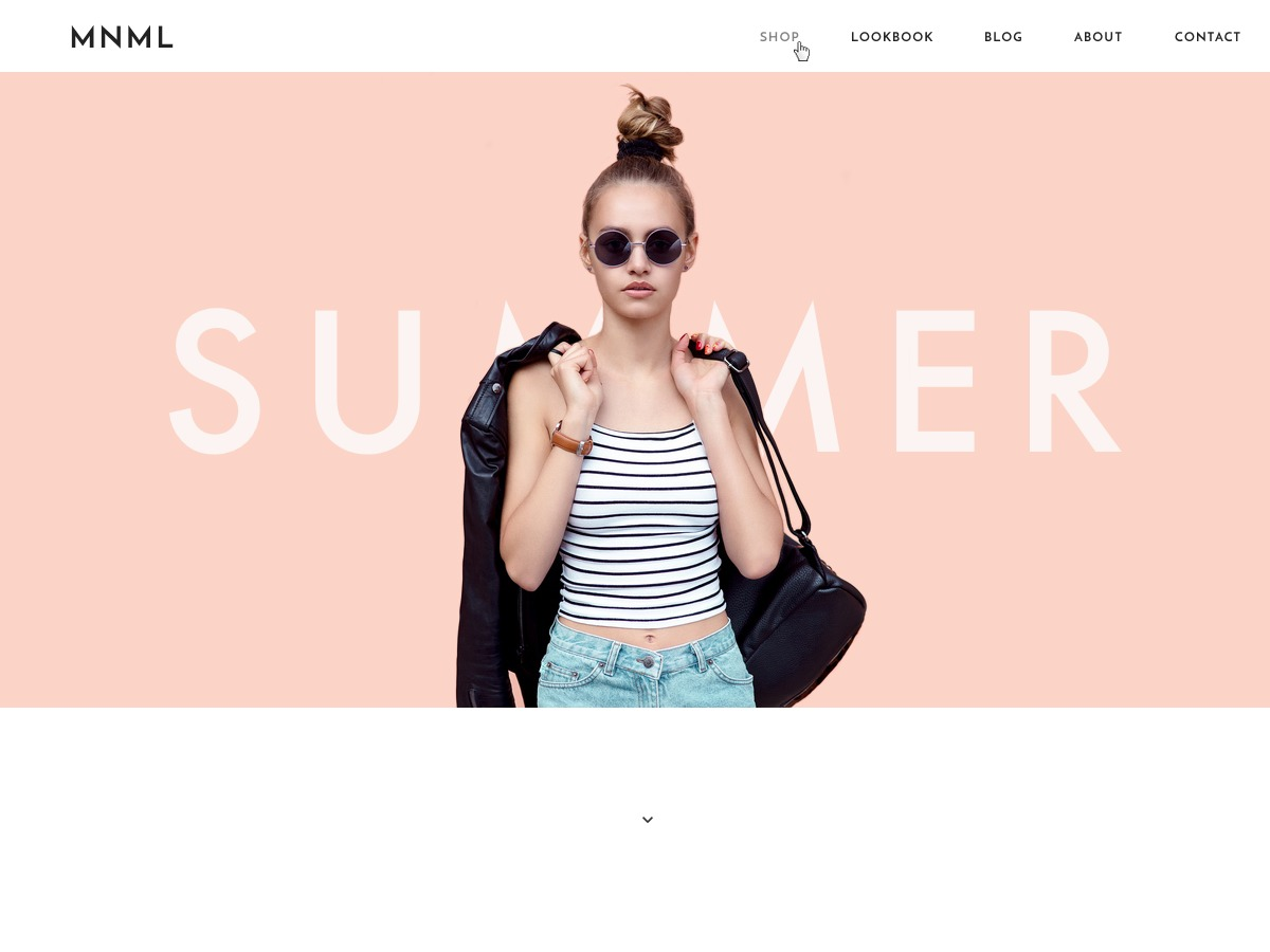 MNML Shop WordPress shop theme