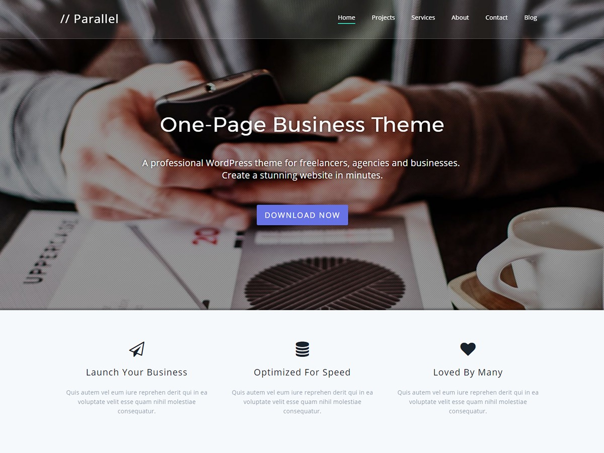 Parallel Pro WordPress store theme