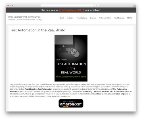 Rational Start best free WordPress theme - realworldtestautomation.com
