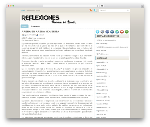 Sensation WordPress theme - reflexioneshwbruch.com