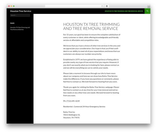 Twenty Fourteen WordPress theme - rufustreeservice.com
