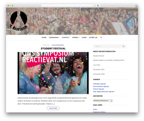 Type best free WordPress theme - reactievat.nl