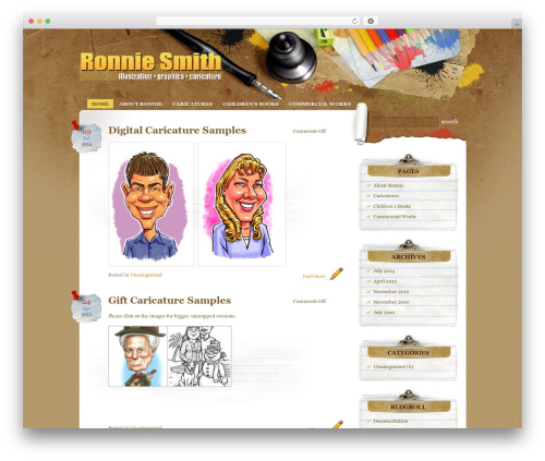 WordPress theme Paper Wall - ronniesmithart.com