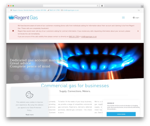 Betheme WordPress template for business - regentgas.co.uk