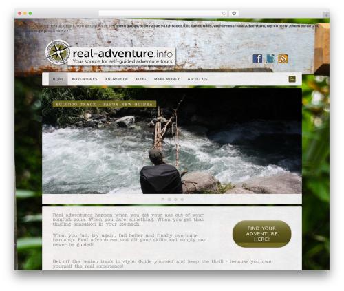 Dejavu WordPress website template - real-adventure.info