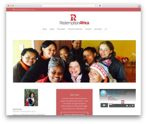 Divi WordPress theme - redemptionafrica.org