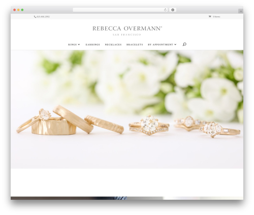 Divi WordPress wedding theme - rebeccaovermann.com