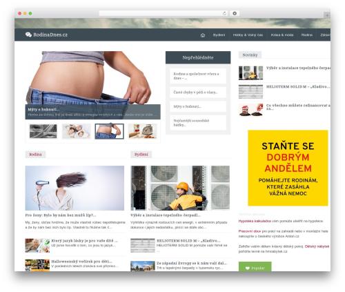 Magazine WordPress website template - rodinadnes.cz