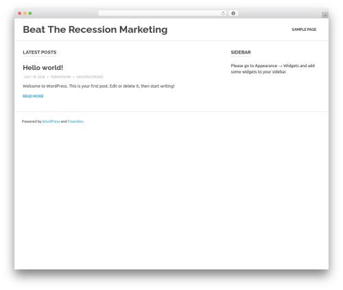 Poseidon template WordPress free - recessionmasters.com