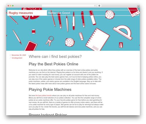 Swiss template WordPress free - rugby-engine.com
