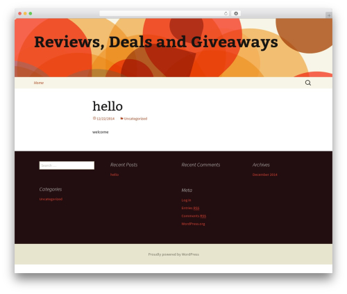 Twenty Thirteen best free WordPress theme - reviewsdealsandgiveaways.com