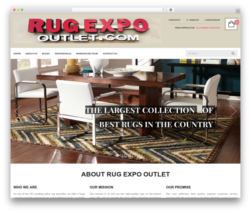 UberStore best WooCommerce theme - rugexpooutlet.com