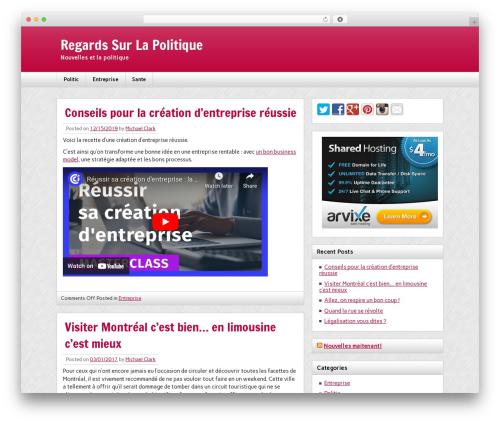 zeeNews newspaper WordPress theme - regardssurlapolitique.com