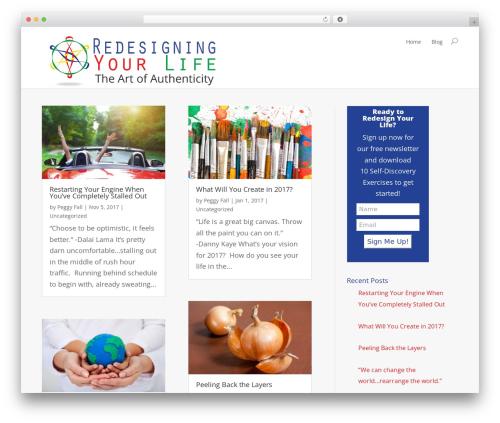 Best WordPress template Divi - redesigning-your-life.com
