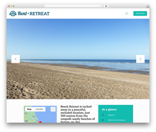 Best WordPress theme Betheme - rentaretreat.co.uk