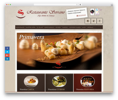 Evolution WordPress theme - restauranteserrano.es