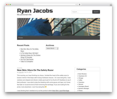 Gridiculous free WP theme - ryanjacobs.com