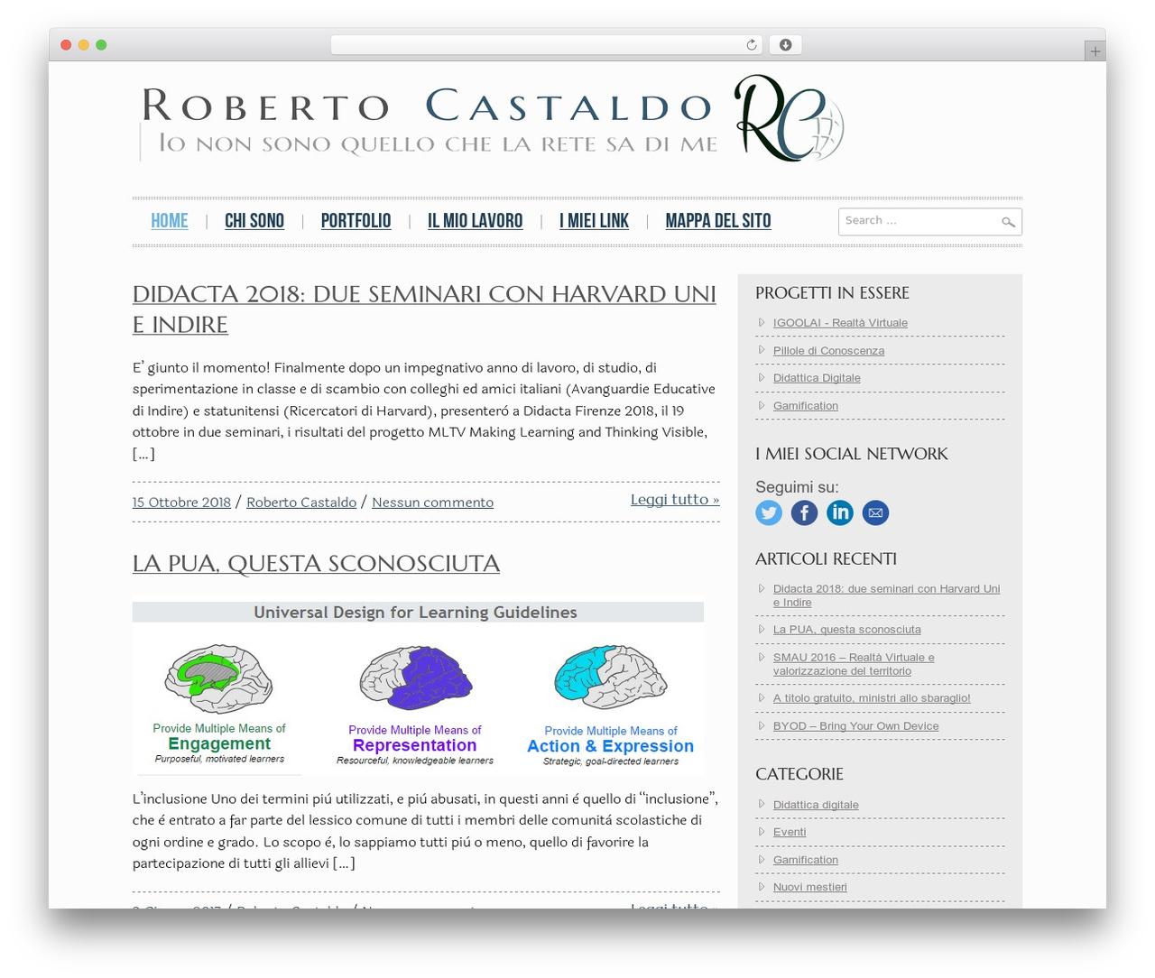 Hannari WordPress theme - robertocastaldo.it