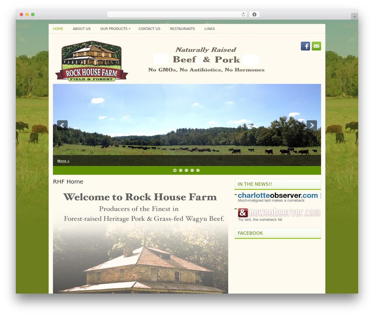 Practis WordPress theme - rockhousefarm.info